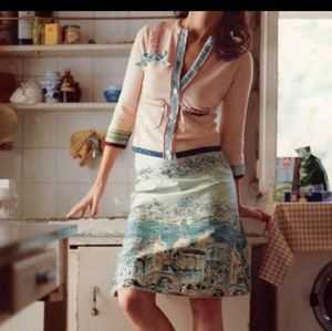 Anthropologie Elevenses Venice Postcard Skirt